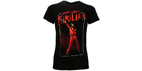 T-Shirt Michael Jackson Original Thriller T-Shirt schwarz offizielles The King of Pop, Schwarz Medium