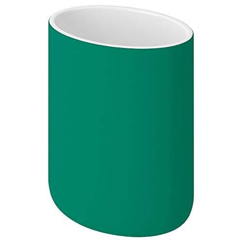 IKEA EKOLN - Juego de baño, soporte para cepillos de dientes, jabonera, dispensador de jabón [verde] (tipo de artículo: vaso para cepillo de dientes)