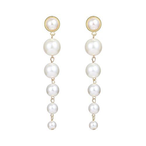 JINGM Boucles d'oreilles Perles Femme Accessoires De Mode