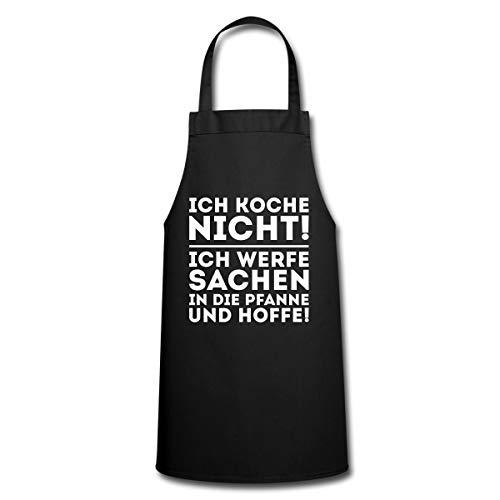 Spreadshirt Ich Koche Nicht Werfe Sachen In Die Pfanne Kochschürze, Schwarz