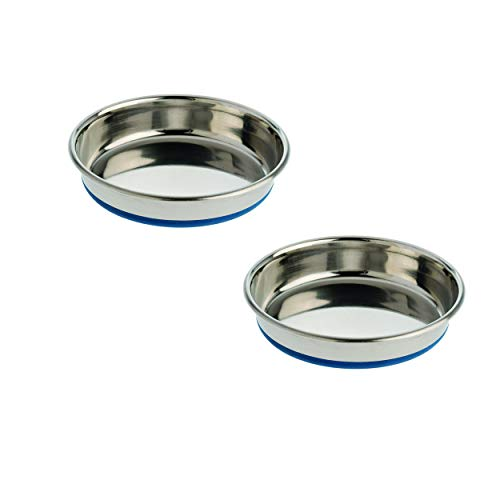 2 Pack Our Pets Durapet Stainless Steel Cat Dish 1.75 cup