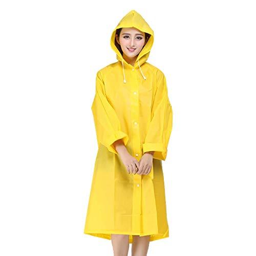 Damesjas met capuchon, regenjas, regenjas voor heren, regenjas voor buiten, draagbaar poncho - EVA-materiaal - 3 maten