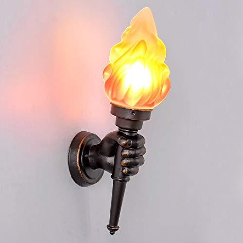 Tritow Américain Rétro Lampe Murale Creative Bar Restaurant Nostalgique Décoration Café Allée Torche Lumière Murale Extérieur Applique Murale (Taille : Left Hand)