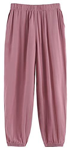 ZRFNFMA Ropa de niñas, Grandes Chicas Delgadas Ropa Exterior Pantalones Pantalones Casuales, Pantalones Deportivos para niños, Rosa Bloomers pink-150cm