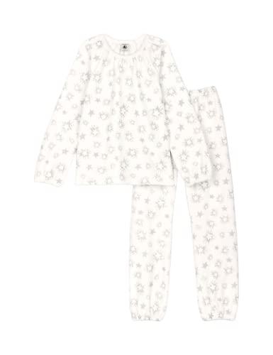 Petit Bateau A01YJ Ensemble de Pijama, Blanc Argent, 10 Ans Fille