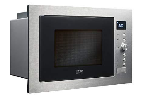 Caso EMCG32 3-in-1 Einbau-Mikrowelle mit Grill und Heißluft 2500W | Backofen-Funktion, 140 - 230°C, 60cm breit, 32L, Edelstahl gebürstet