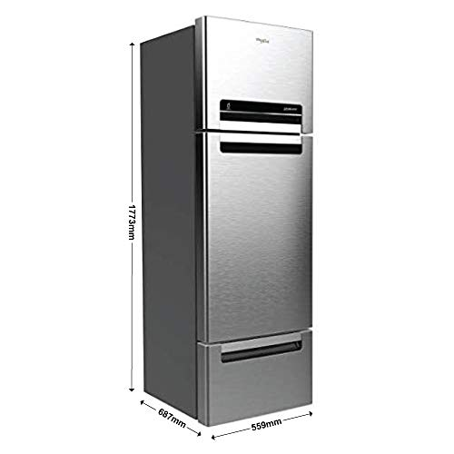 Whirlpool 260 L Frost-Free Multi-Door Refrigerator (FP 283D PROTTON ROY, German Steel) 3