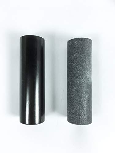 RTI TRADE Echter Schungit & Seifenstein, Harmonizer, Set mit 2 polierten Heilstäben, 10,2 cm lang