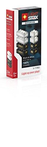 Light STAX S-11002 Expansion 11004, kompatibel mit dem STAX System und allen bekannten Bausteinmarken, 24 Zusatzsteine (schwarz und weiß)