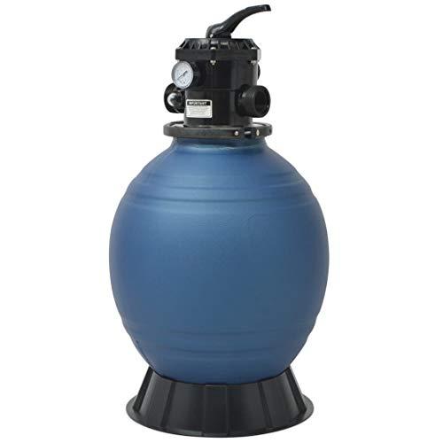 vidaXL Sandfilter 6 Wege Ventil 460mm Sandfilteranlage Poolfilter Filterkessel