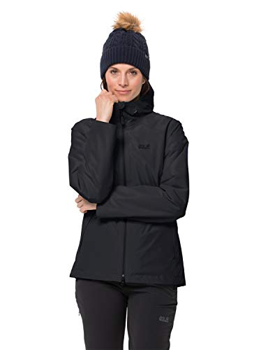 Jack Wolfskin Damen Chilly Morning JKT W Winterwanderjacke Wasserdicht Winddicht Atmungsaktiv Wetterschutzjacke, schwarz, L