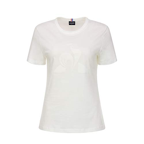 Le Coq Sportif ESS tee SS N°1 Camiseta, Mujer, New Optical White, M