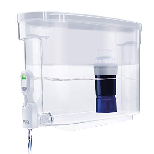 PUR Ultimate Water Dispenser w/LED & Lead Reduction Filter, White, DS1811Z - WQA Certified to Remove 99% of Lead, Filters Up to 30 Gallons/2 Months of Water