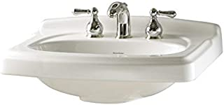 American Standard 0555.108.020 Townsend Pedestal Sink Top with 8-Inch Centers and Turn-Of-Century Detailing, White