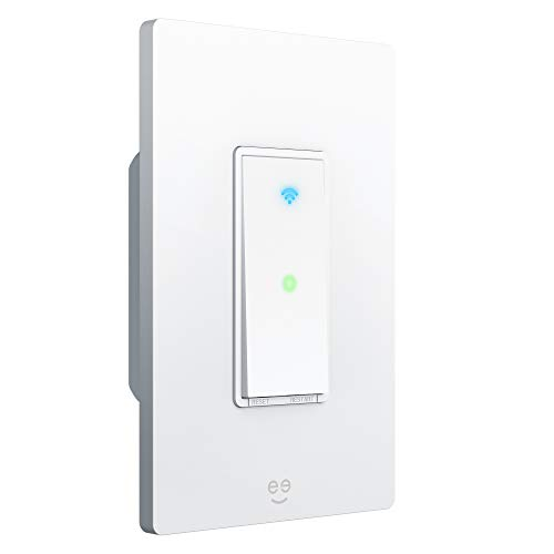 Geeni TAP Smart Light Switch, White, 1 Switch - No Hub Required - Requires Neutral Wire - Smart Light Switch Works with Amazon Alexa, Google Assistant &, Requires 2.4 GHz Wi-Fi