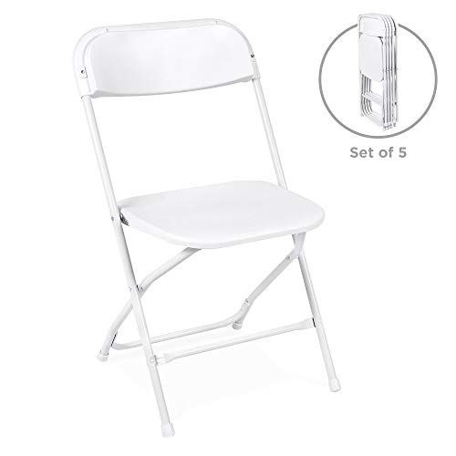 Best Choice Products Set of 5 Portable Stackable Plastic Folding Chairs