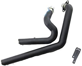 COPART Shortshots Staggered Exhaust Pipe Kit Silencer Mufflers For Honda Steed Shadow 400 600 VLX400 VLX600 VT400C VT600C All Year Black