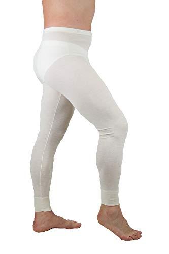 MANIFATTURA BERNINA Velan 30104 (Taglia 3) - Calzamaglia Termica Pantalone Intimo Uomo - Lana e Cotone