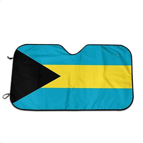HJJL Auto Windschutzscheibe Sonnenschirm Bahamas Flag Car Sun Shade Uv Rays Sun Visor Protector Premium Auto Sunshades Foldable Windshield Sun Shade Keeps Your Vehicle Cool 27.5 X 51 in