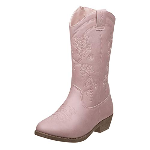 Old West Kids Boots Girl's Square Toe Leatherette (Toddler/Little Kid) Pink 1 Little Kid M
