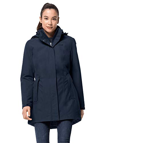 Jack Wolfskin Damen Madison Avenue Coat Mantel, Blau (midnight blue), M