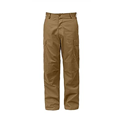 "Rothco Tactical BDU (Battle Dress Uniform) Military Cargo Pants, XL (39""-43"" Waist), Coyote Brown"