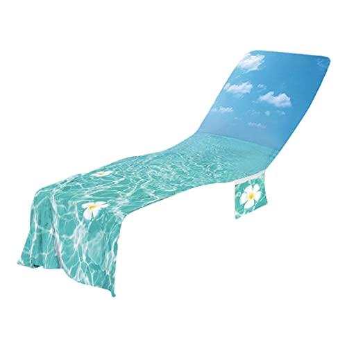 Defeat Cojín para tumbona de microfibra, toalla refrescante, toalla de playa, toalla de playa, toalla de algodón suave, funda protectora para tumbona de jardín, agradable al tacto, absorbente