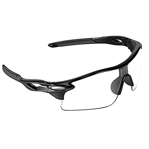 VABNEER Fahrradbrille Unisex Radbrille Sportbrille f¨¹r Outdoor-Sport Radfahren (Transparent)