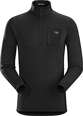 Arc'teryx Rho AR Zip Neck Men's (Black, Large)