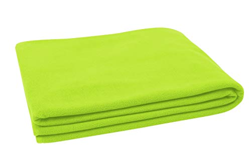 ZOLLNER Fleece Kuscheldecke, 130x170 cm, grün