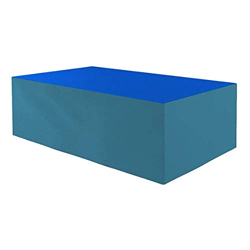 Planesium Premium - Funda protectora para mesa de jardín (575 g/lfm, 200 x 160 x 70 cm), color azul y turquesa