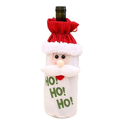 Weihnachten Weinflasche Schutztasche - 1 PC-Karikatur Weinflasche Abdeckung Weihnachtsmann Snowman Elk Weinflasche Abdeckung Geschenk-Beutel Geeignet for Weihnachtsdekoration, Zuhause-Party-Tischdekor