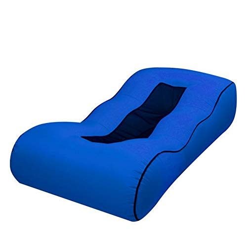Anabei Sofá inflable perezoso al aire libre playa portátil plegable sofá cama de red