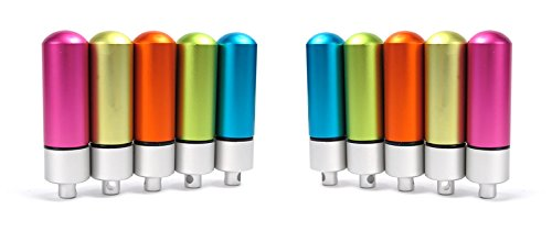 ASTRO aluminium mini-boîtes pour garder chose importante, comprimé, pilule, la médecine, la capsule, en cas d'urgence survie en plein air équipement imperméable bouteille couleurs assorties (Pack10)