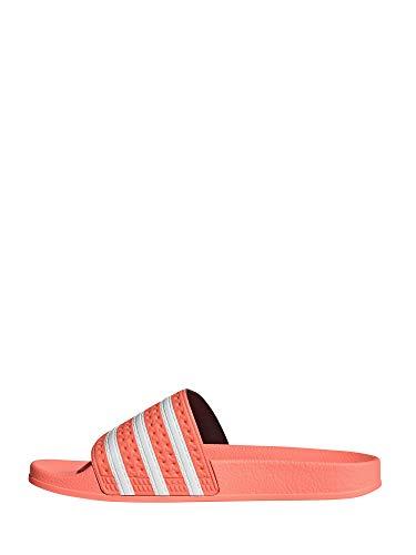 adidas Damen Adilette Slide Sandal, Orange (Semi Flash Orange/Footwear White/Semi Flash Orange), 38 EU