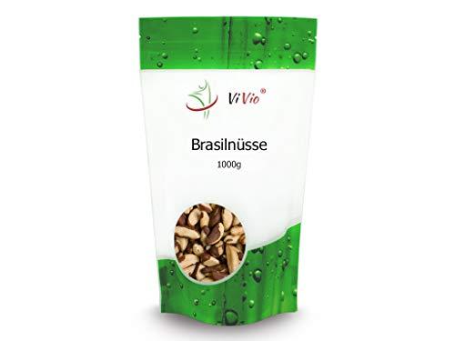 Paranüsse 1 kg - Brasilnüsse 1000 g - Vegan - Paranusskerne/Nüsse ohne Bruch - Rohkost-Qualität - unbehandelt - naturbelassen -reich an Selen - ohne Aflatoxin - 1 kg Großpackung - Bolivien