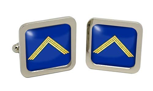 Master Boutons de manchette pour homme avec symbole maçonnique Chromé-Coffret cadeau