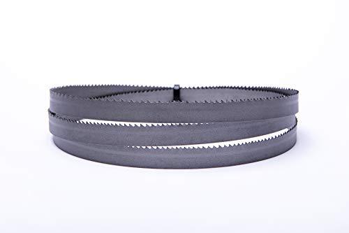 Hoja de sierra de cinta de alto rendimiento (2240 x 20 x 0,9 mm, 10-14 dientes ZpZ, bimetal, M42, por ejemplo, para Optimum, Quantum, Epple, Holzmann, Bernardo, Huvema, ELMAG)