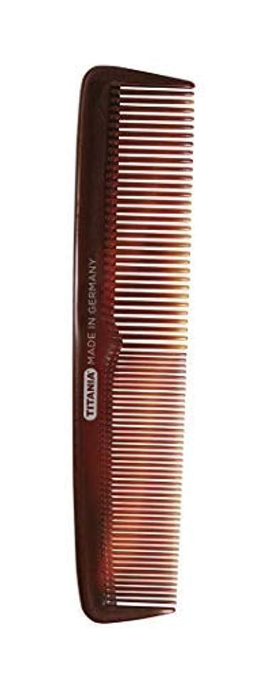 ボクシング戻るたるみTitania Ladies' Big Comb, Black Marble - German Made Coarse & Fine Toothed Styling Comb For Detangling Beard, Styling Mustache & Grooming Natural Hair & Wigs - Quality Hairdressing for Men & Women [並行輸入品]