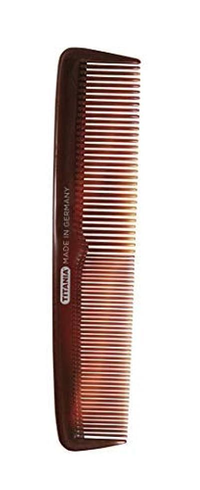 チケットクライストチャーチどうやらTitania Ladies' Big Comb, Black Marble - German Made Coarse & Fine Toothed Styling Comb For Detangling Beard, Styling Mustache & Grooming Natural Hair & Wigs - Quality Hairdressing for Men & Women [並行輸入品]
