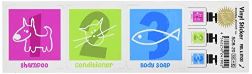 ゼネラルステッカー ステッカー (2枚セット) シャンプーボトルラベル/数字 SCB-020