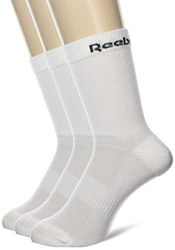 Reebok Herren Te Mid 3P Crew Socks, White, M
