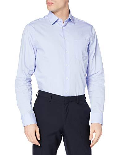 Redford Herren Business Hemd Regular Fit, Blau (bleu 13), S (Herstellergröße: 38)