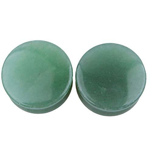 jklj Túneles Túneles de oído Personalizados Kit de Estiramiento Earplugs Piedra Verde Ear Extensiones Pendientes Ear Tunnel Unisex para la perforación del Cuerpo. (Color : Green, Size : 22mm)