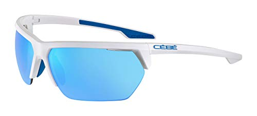 Cébé Cinetik 2.0 Gafas de Sol, Adultos Unisex, Shiny White Blue, Large