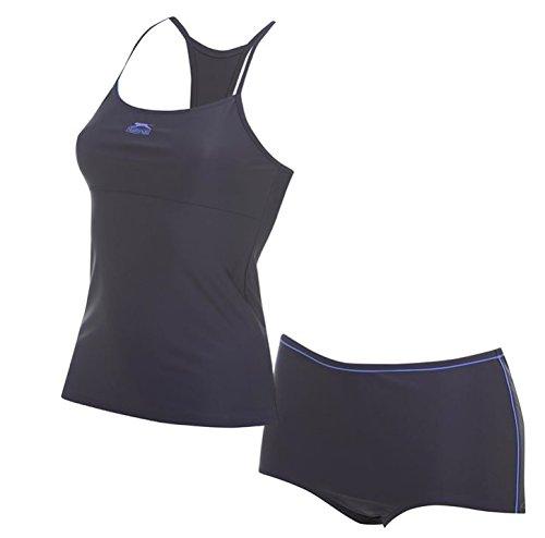 Slazenger Damen Tankini in der Farbe schwarz/lila S