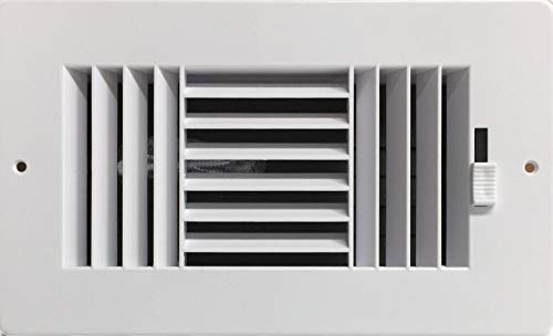 HBW Three-Way Plastic Side Wall/Ceiling Register in White 8