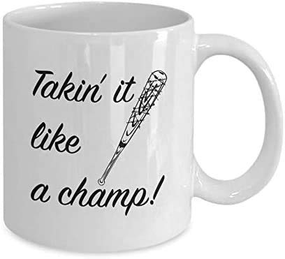 N\A Tazas de cerámica Like A Champ Negan & Lucille # The-Walking-Dead Movie Horror Serie de televisión Daryl-Dixon Michonne Rick-Grimes Tazas de café de Regalo Divertidas 11 oz