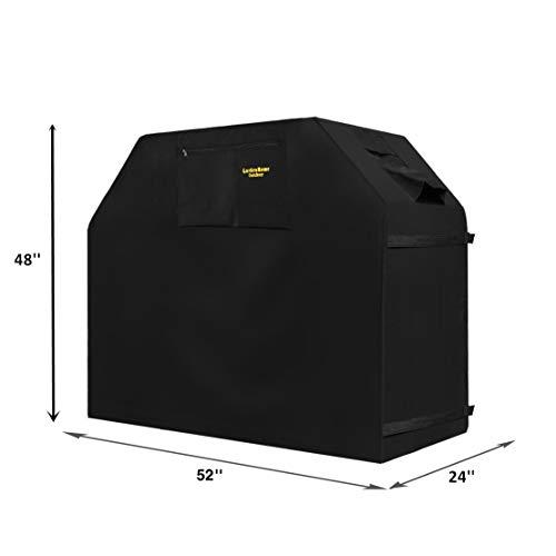 Felicite Home 132,9 cm Grillabdeckung, Gasgrill-Abdeckung für Weber, wasserabweisend, schwarz