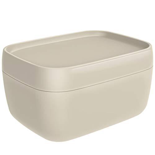 Rotho Sofia Dekobox 19l mit Deckel, Kunststoff (PP) BPA-frei, cappuccino, L/19l (39,3 x 29,7 x 21,1 cm)